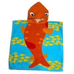 🆕 Goldfish hooded beach pool bath towel coverup